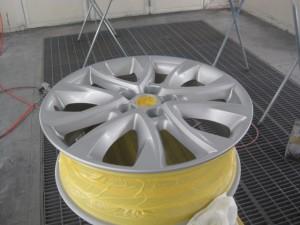 マツダCX-5 アルミホイール色変え塗装