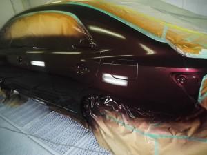 塗装作業 トヨタ プレミオ