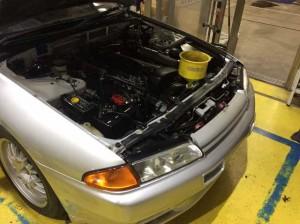 R32 GT-R VスペックⅡ 錆修理・バンパー塗装・スリーラスター塗装・ラジエター交換