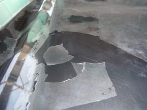 ボンネット塗装不良 修理・塗装  スバル レガシーワゴン