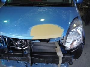 ボンネットの凹み修理 トヨタ パッソ