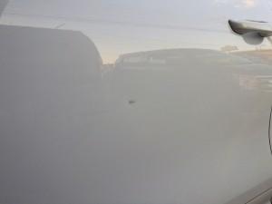ポルシェ カイエン フロントドア ドアパンチ 板金塗装