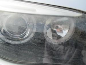 埼玉県さいたま市:ヘッドライトコーティング BMW