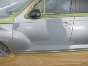 埼玉県さいたま市:ドアのヘコミ板金塗装修理 PTクルーザー