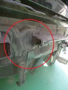 スイフト(ZC21S) リヤ追突修理