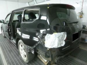 オデッセイ(RB3) 左側面事故修理