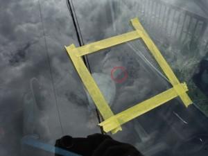 埼玉県春日部市:フロントガラス飛び石修理 ウインドリペア