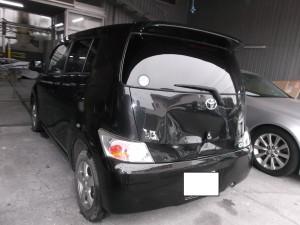 トヨタ bB 追突修理