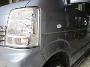 さいたま市:スズキエブリイ フェンダーの小さな凹み修理