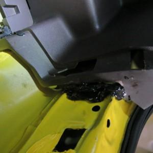 トヨタポルテ 不適切な修理事例