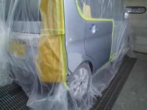 タント フロントバンパー・リヤバンパー・リヤフェンダー 板金・修理・塗装
