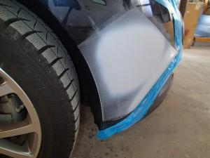 ボルボV70 クロスカントリー バンパー修理塗装/桶川市