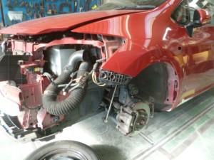 トヨタ オーリス(NZE151) 左ロッカーパネル(ステップ部)修理
