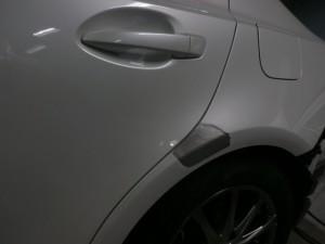 埼玉県川口市 レクサスIS300h 左側面鈑金塗装修理