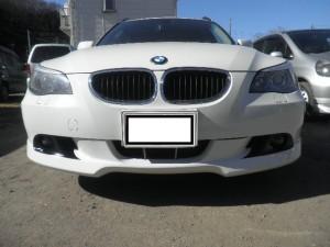 BMW E60/E61 フロントスポイラー取付