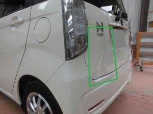 ホンダ N-ワゴン バックドアの凹み板金修理