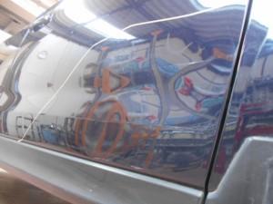 スバルフォレスター ドアのヘコミ板金塗装