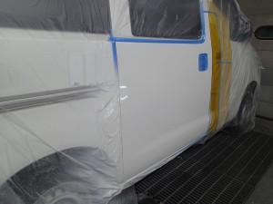 東京都目黒区/タウンエース左スライドドア板金・修理・塗装