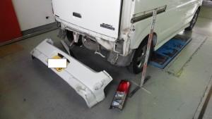 エヴリィワゴン 追突事故修理